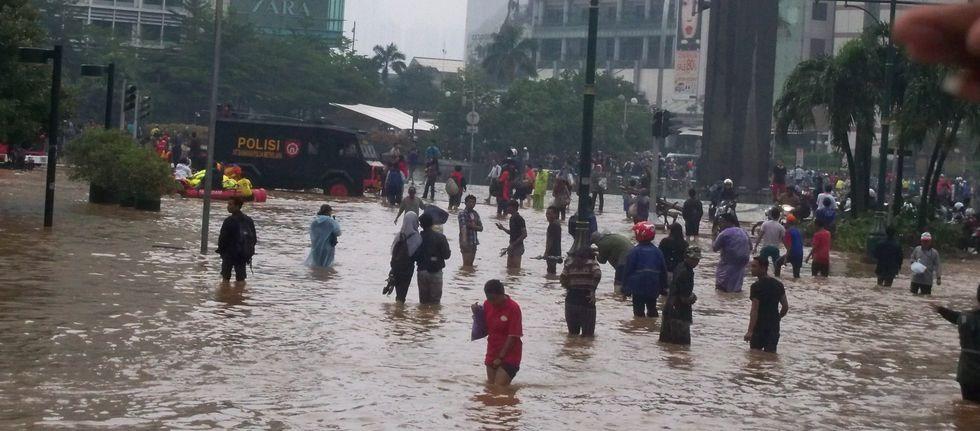 Flooding Has Turned Jakarta Into A Real-Life 'Waterworld'
