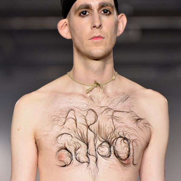 A Model's Chest Hair Morphed Into Body Art at Fashion Week