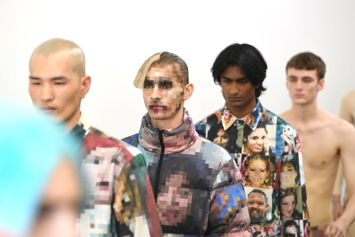 These Models' Pixelated Faces Address Political Surveillance