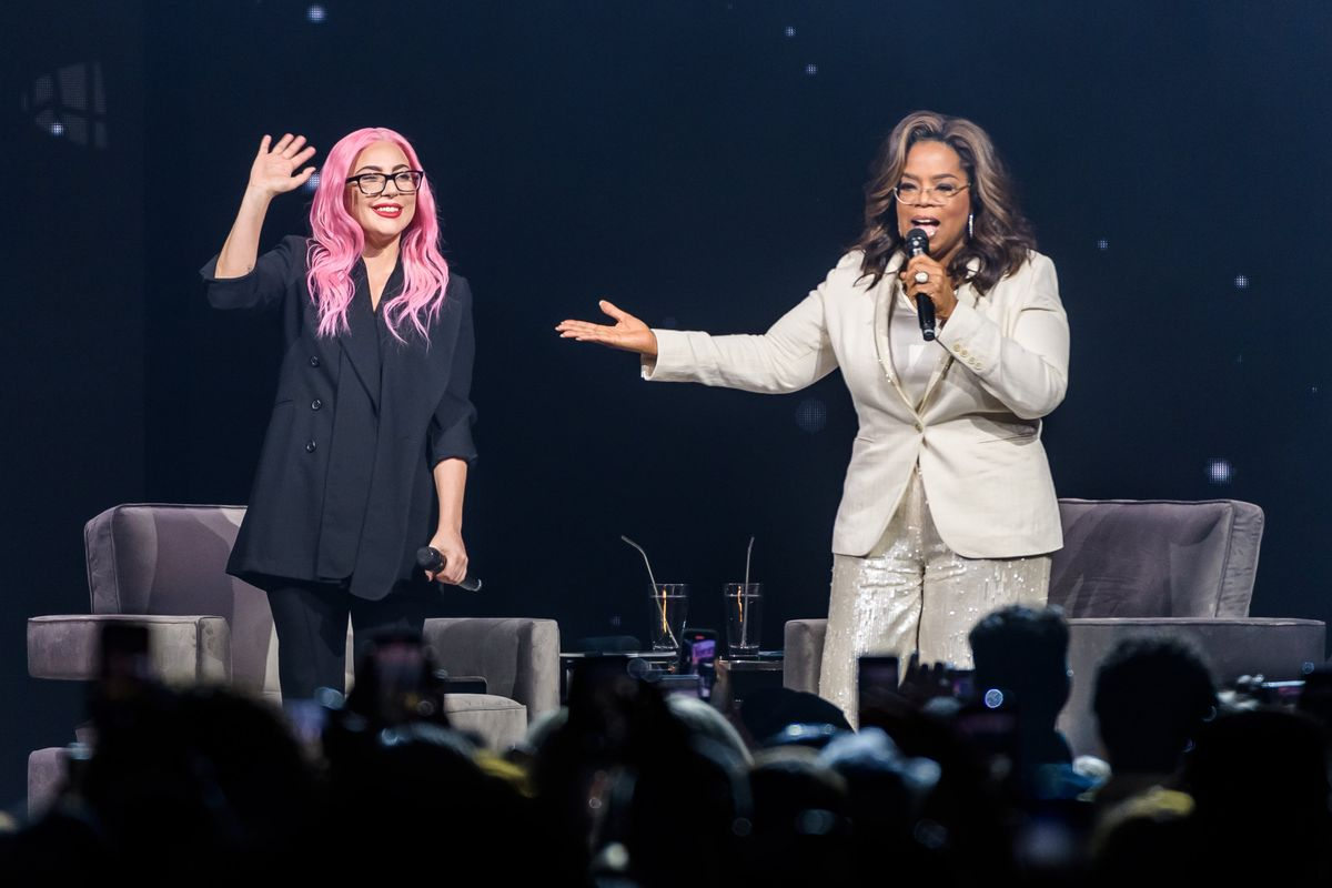 Oprah and Lady Gaga Cry During Backstage Meeting