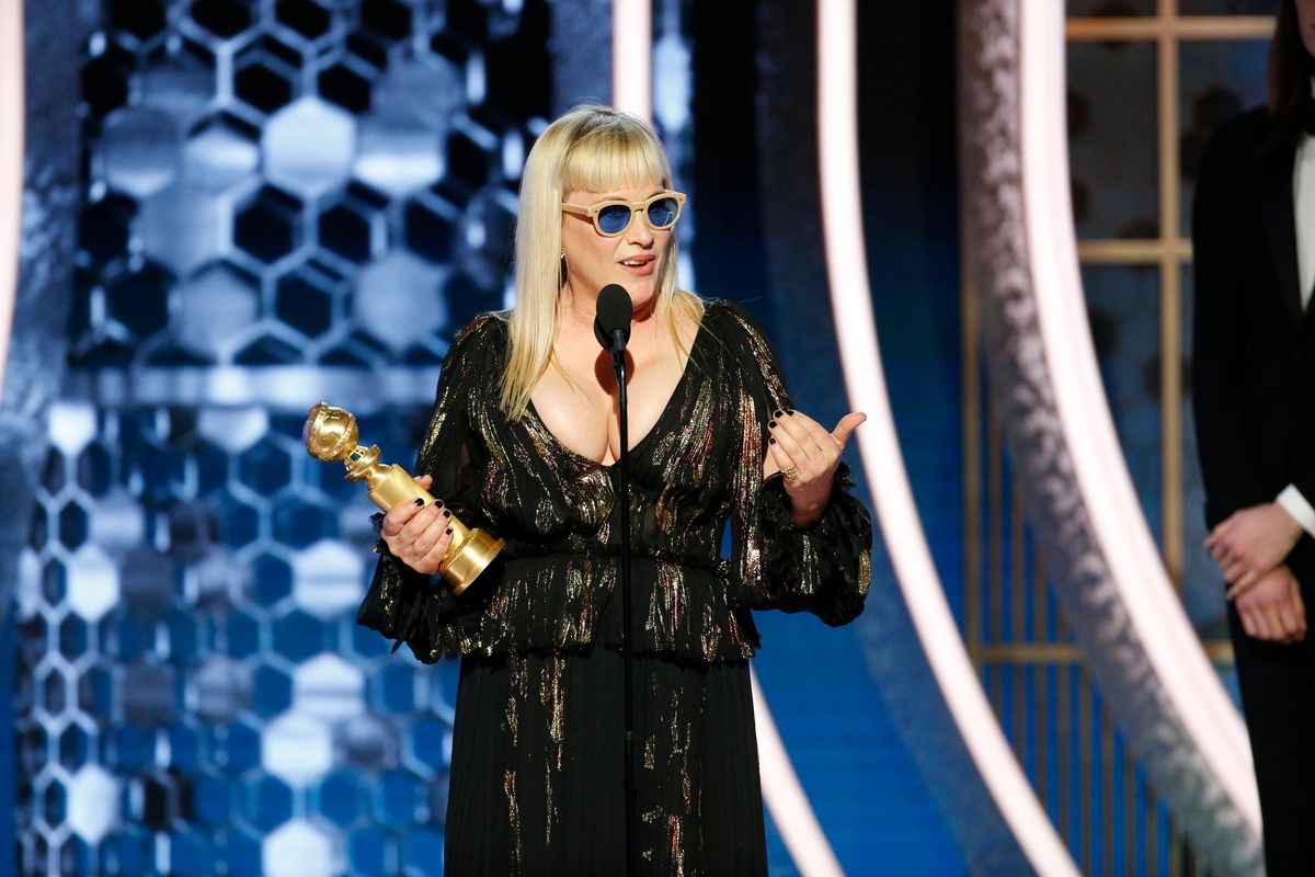 Patricia Arquette Urges Everyone at the Golden Globes to Vote in 2020
