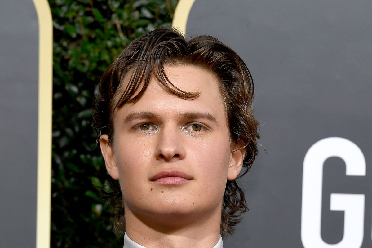 Ansel Elgort Wore Glitter Eyeshadow, Nail Polish to the 2020 Golden Globes