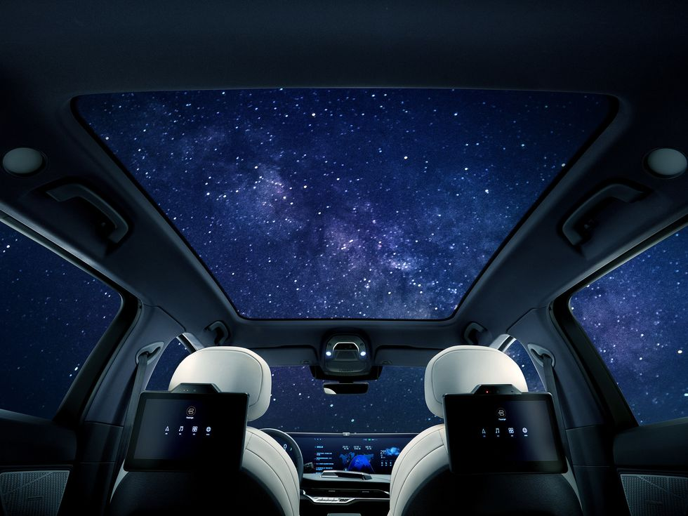 Byton M-Byte screen interior sunroof