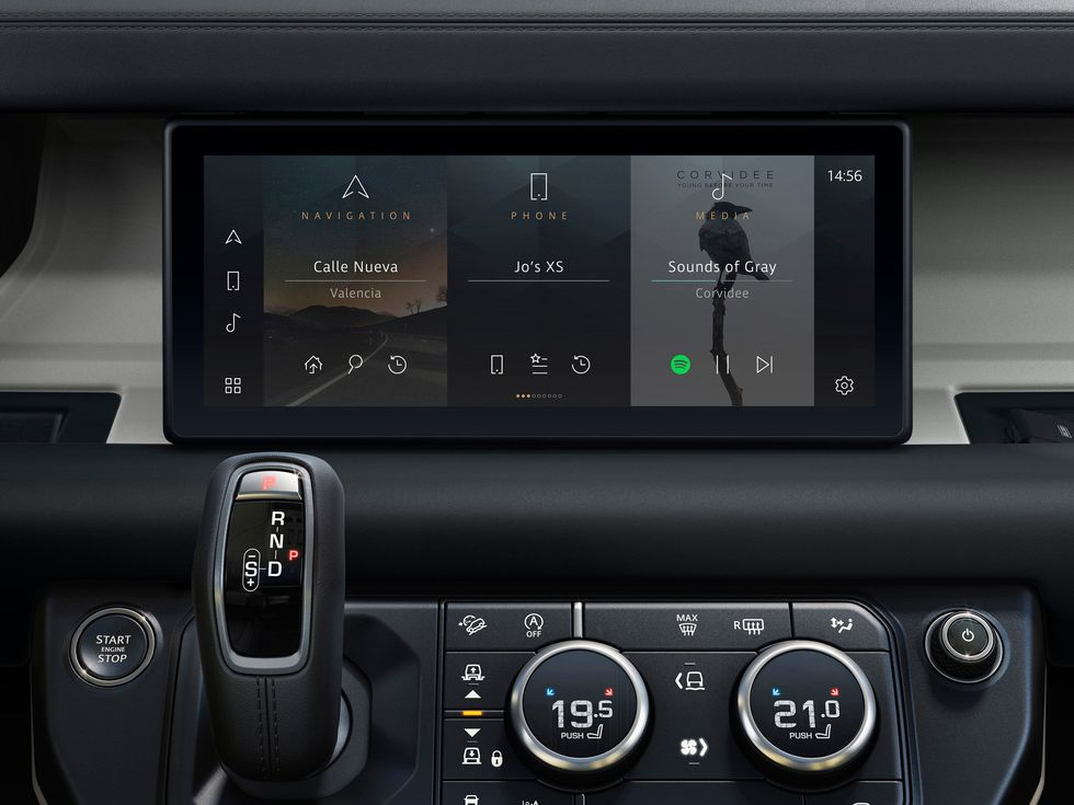 Pivi Pro infotainment system Land Rover Defender 2020