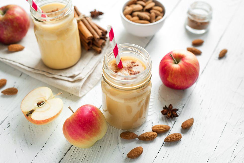 Apple pie protein smoothie drink