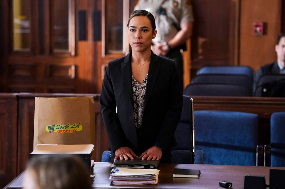 Jessica Camacho as Emily Lopez in courtroom TV dram All Rise.