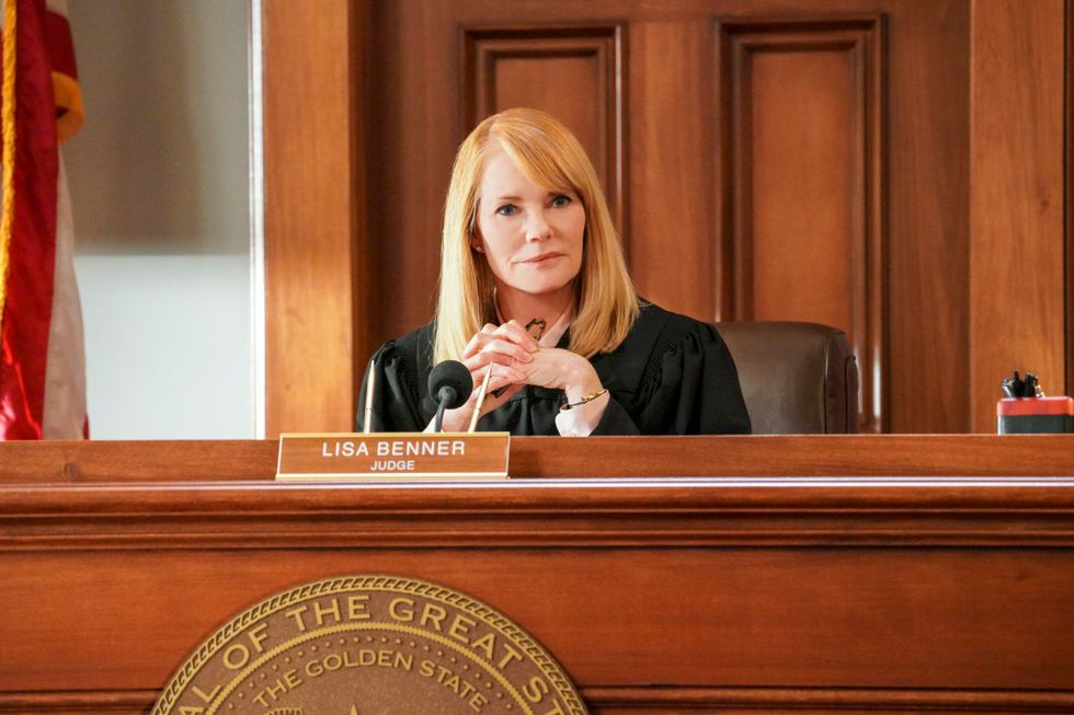 Marg Helgenberger as Judge Lisa Benner on CBS legal drama All Rise.