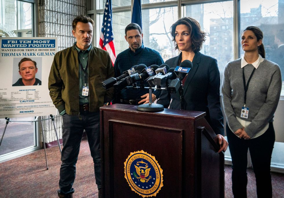 Julian McMahon, Jeremy Sisto, Alana De La Garza,  and Missy Peregrym of procedural TV drama FBI.