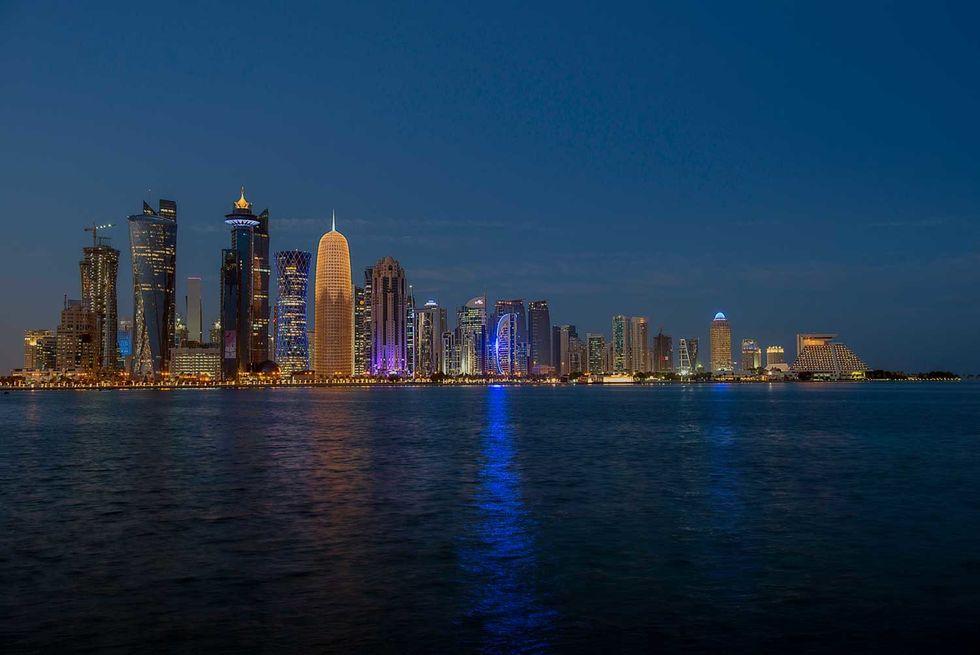 Doha panorama citt\u00e0 Qatar