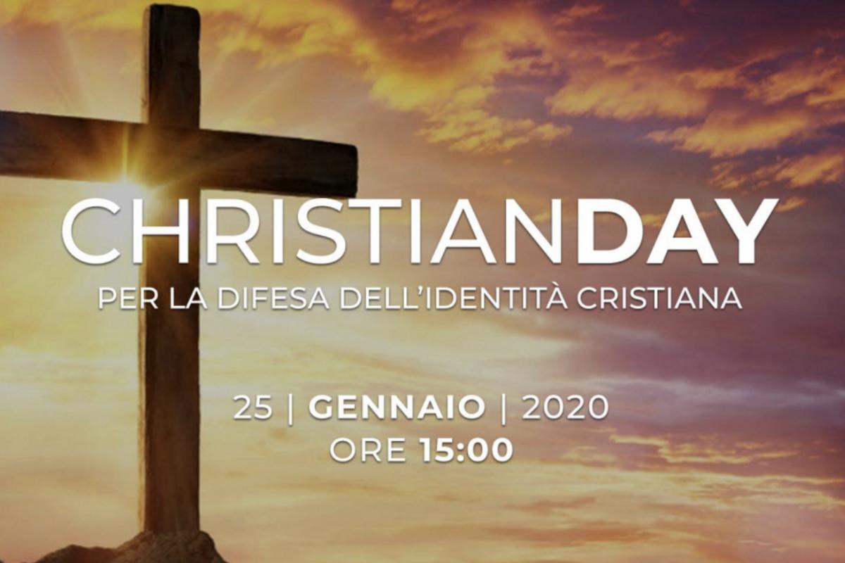 Christian day, Pro Vita & Famiglia: «Ci saremo anche noi a difendere il cristianesimo dissacrato e offeso ogni giorno»