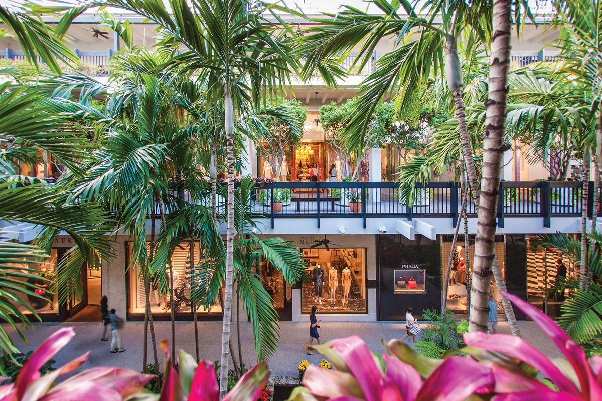 The retail shops at Bal Harbour, Miami.