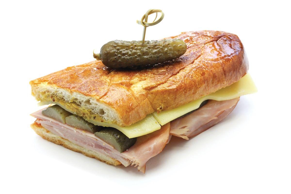 A traditional Cuban sandwich.