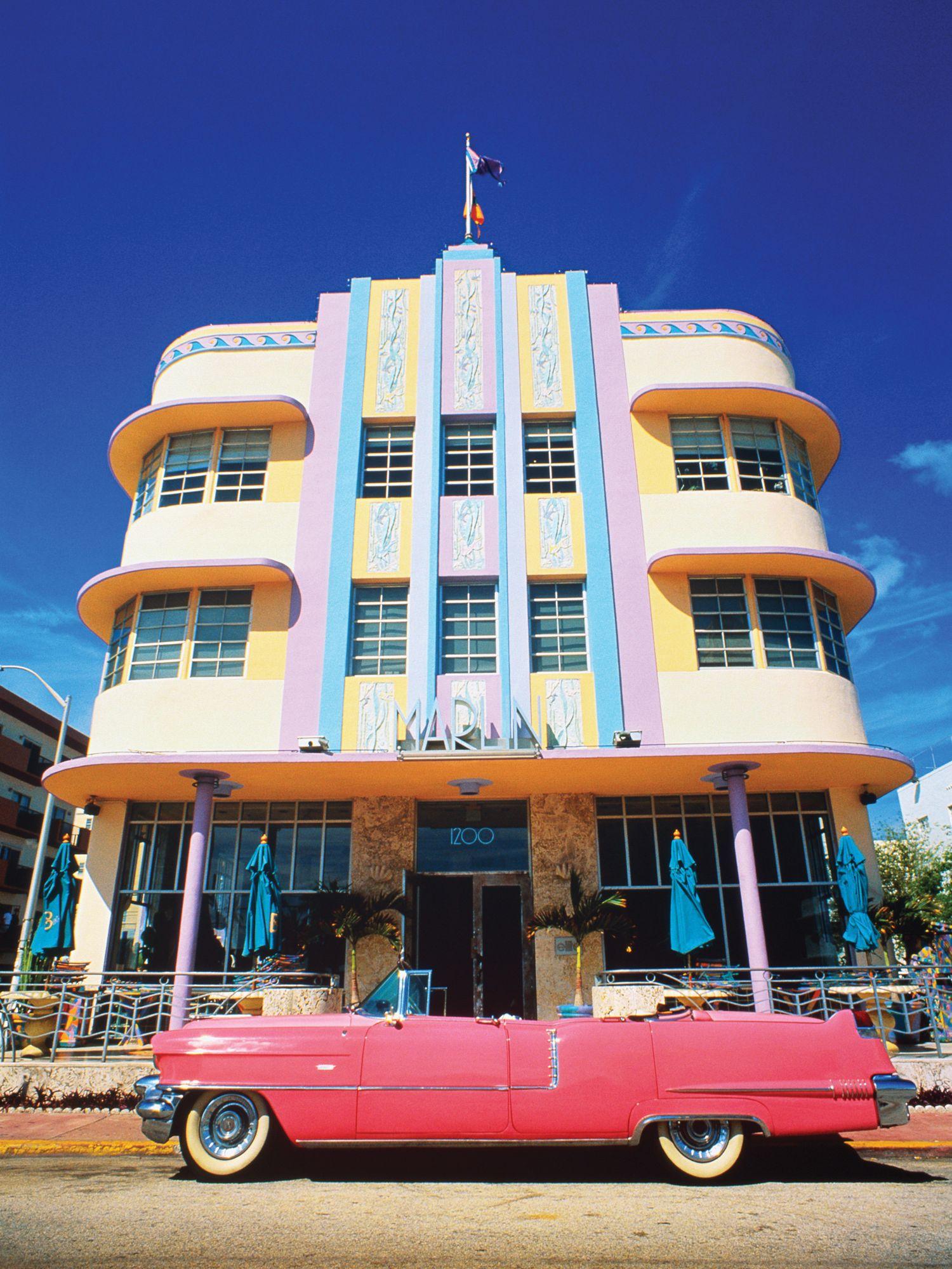Art Deco District of Miami.