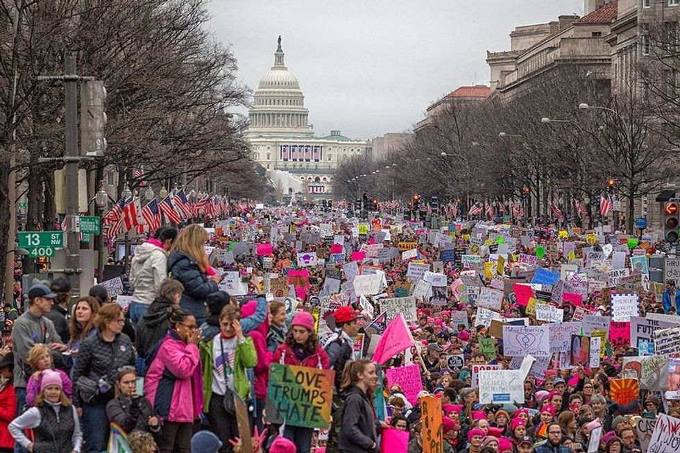 The National Archives Censoring Anti-Trump Women's March Signs Is Dystopian And Dangerous