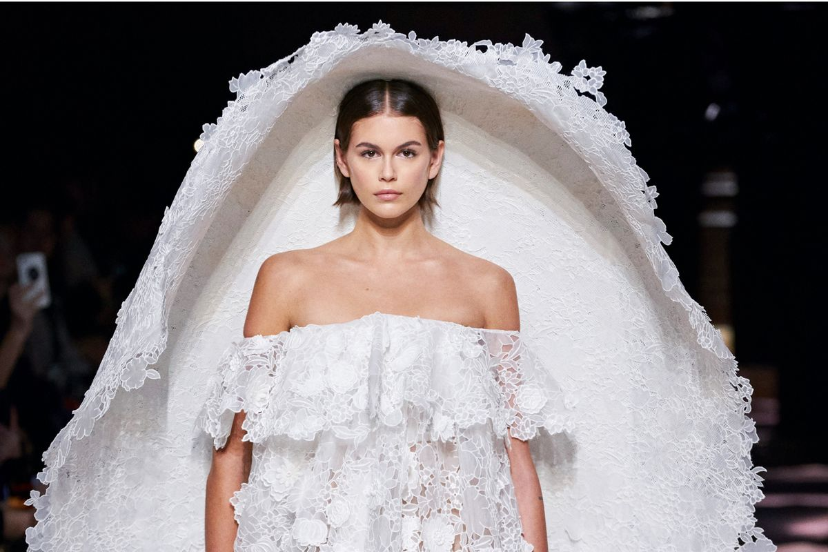 Kaia Gerber's Givenchy Couture Wedding Dress Is Really Something