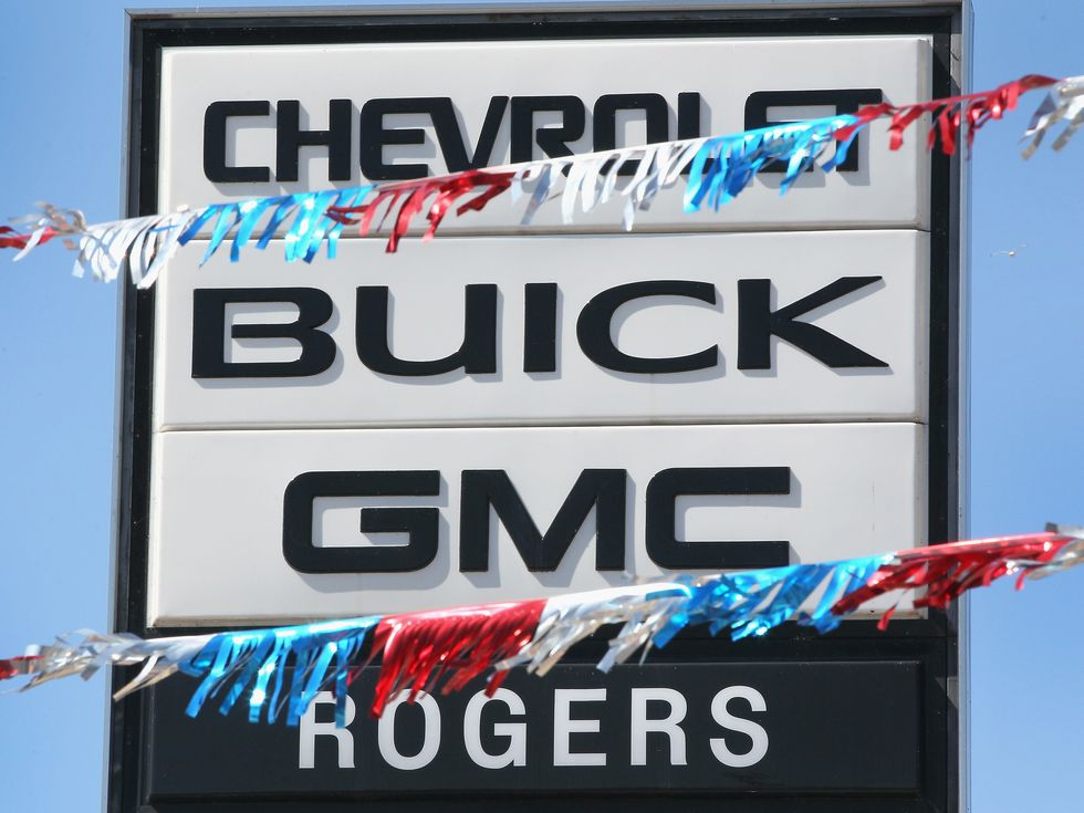 Chevrolet Buick GMC Rogers dealership sign