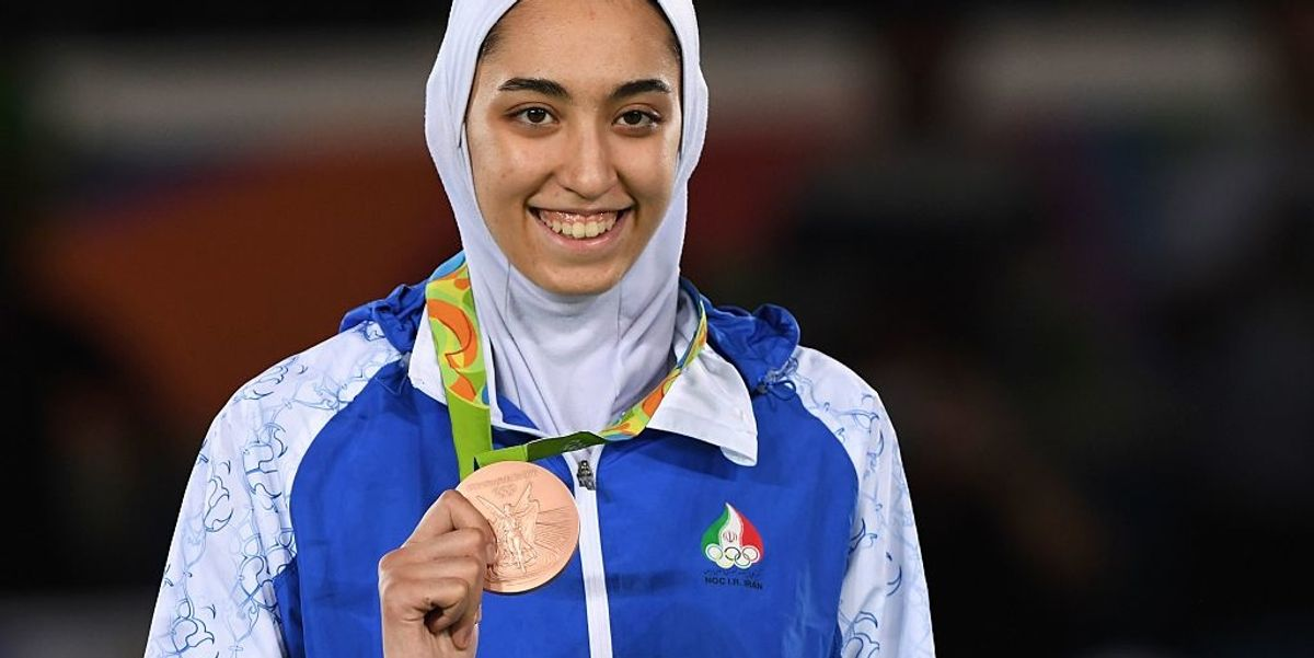 Iran's only female Olympic medalist announces her defection from Iran in scathing message
