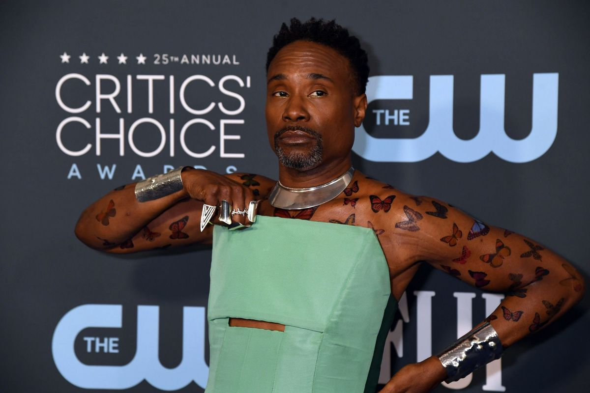 Billy Porter Brings Butterfly Tattoos to the Red Carpet