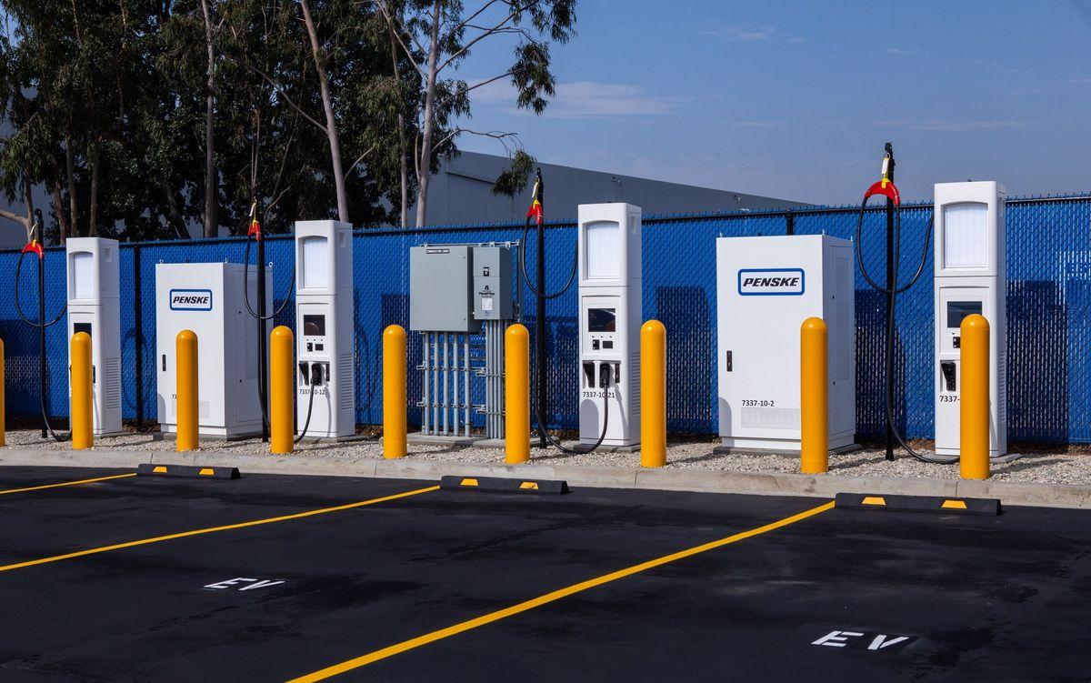 penske charging station