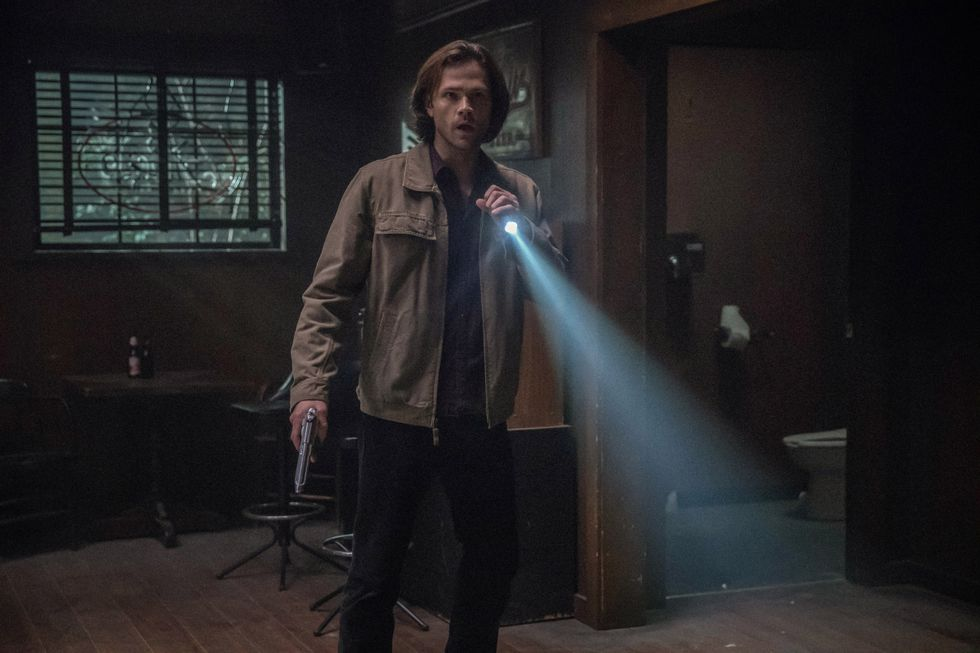 Jared Padalecki as Sam Winchester on TV show Supernatural.