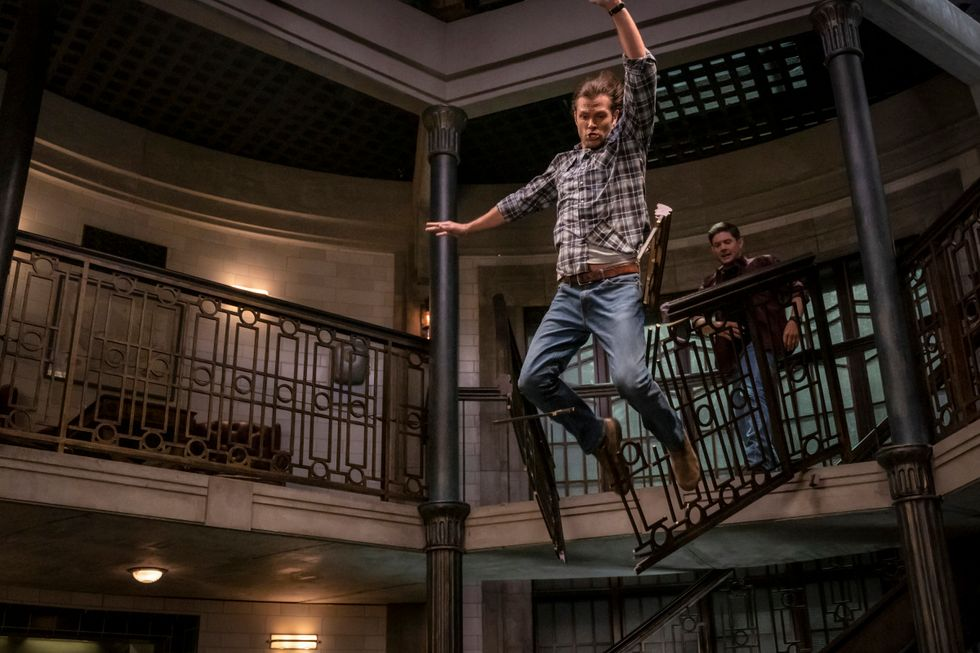 Jared Padalecki as Sam Winchester on TV show Supernatural.