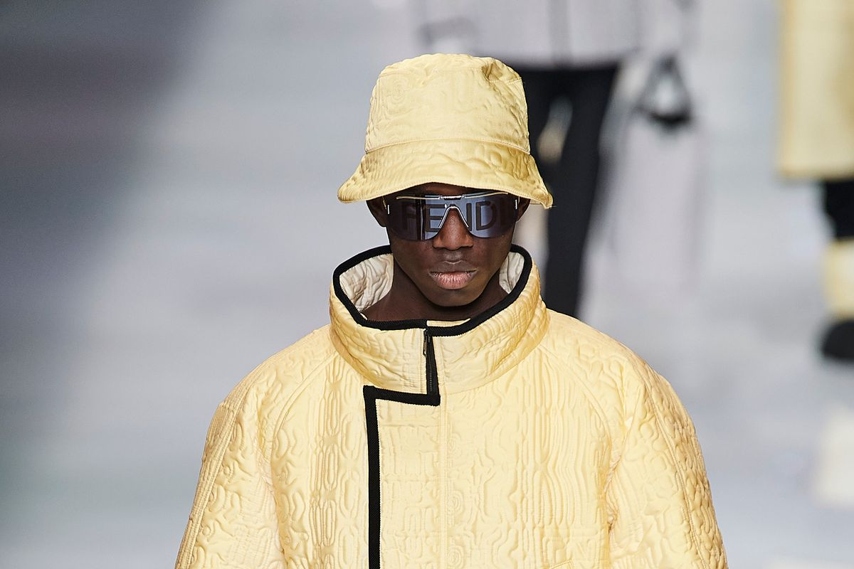 This Light-Activated Coat Stole the Show at Fendi