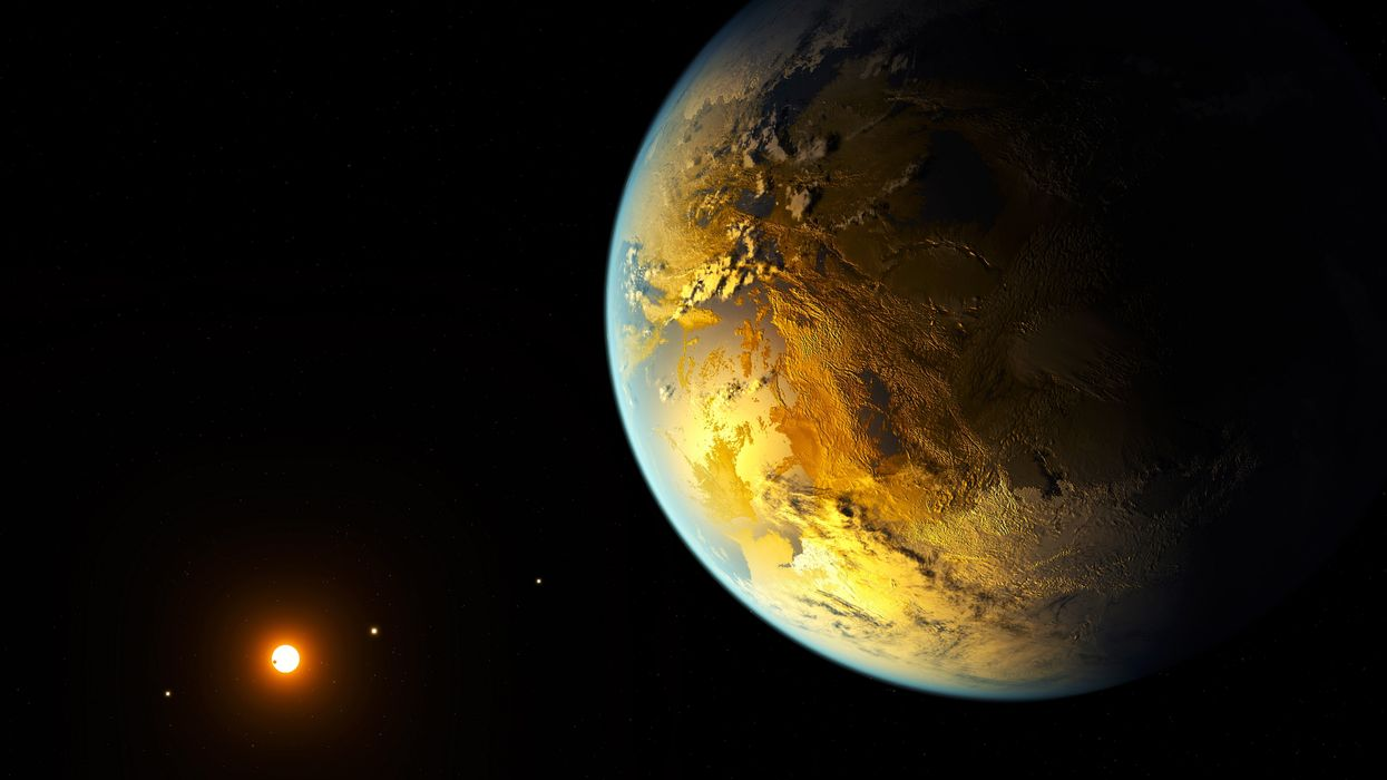 an earth-sized planet was found in the habitable zone of a nearby star