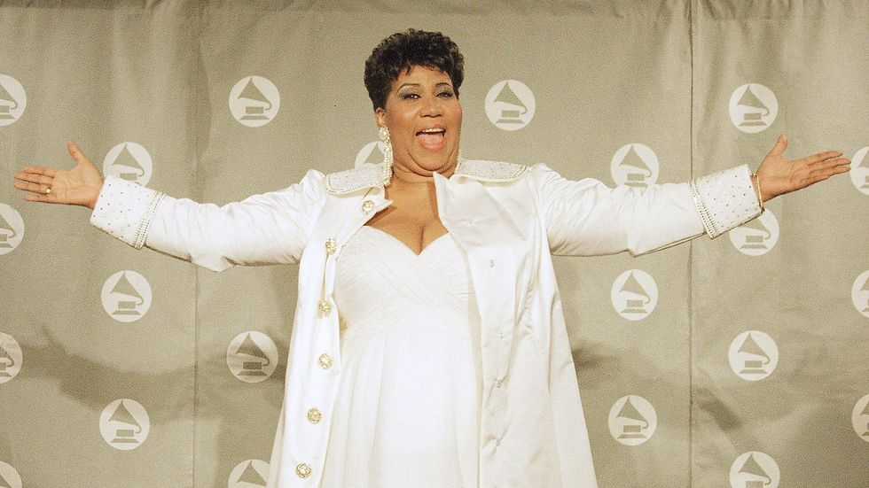 Aretha Franklin at the GRAMMY Awards in 1998.