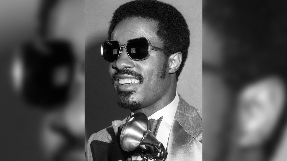 Stevie Wonder at the GRAMMY Awards in 1975.
