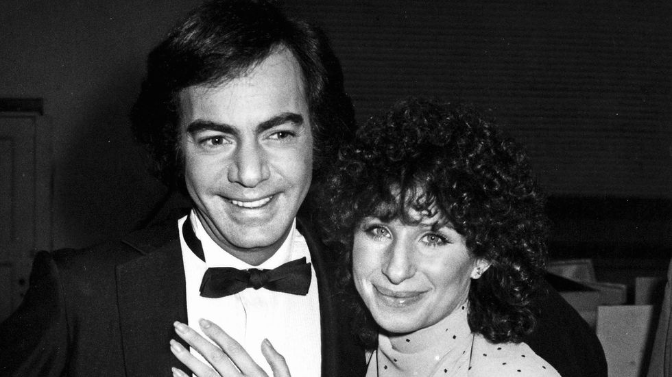 Neil Diamond and Barbara Streisand at the GRAMMY Awards in 1980.