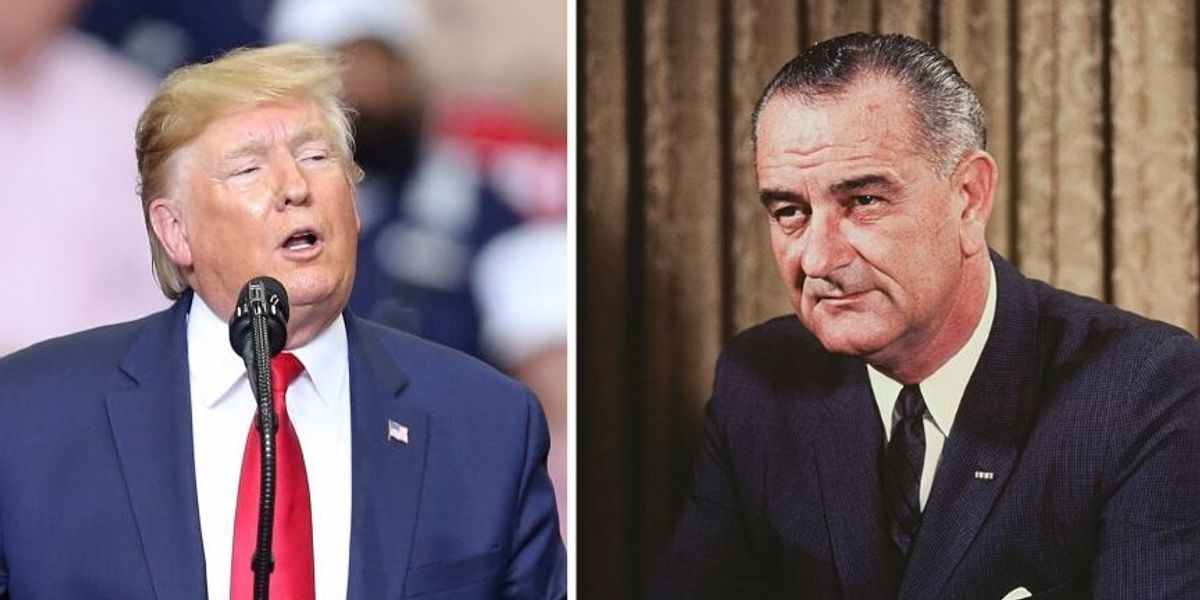 Trump Bizarrely Suggests That Lyndon B. Johnson Is In Hell—And Approves Of His Ukraine Phone Call, Of Course