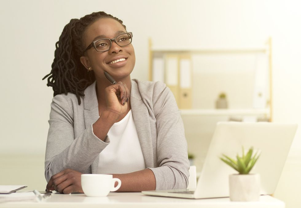 Professional woman has time to pursue hobbies after achieving work-life balance