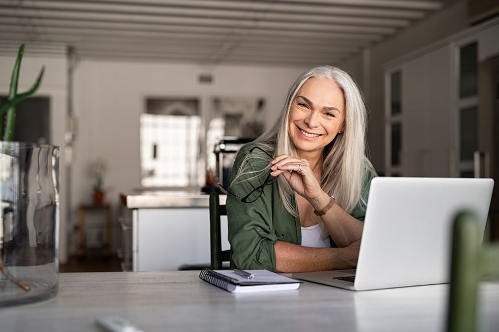 Older woman with daily habits for career success