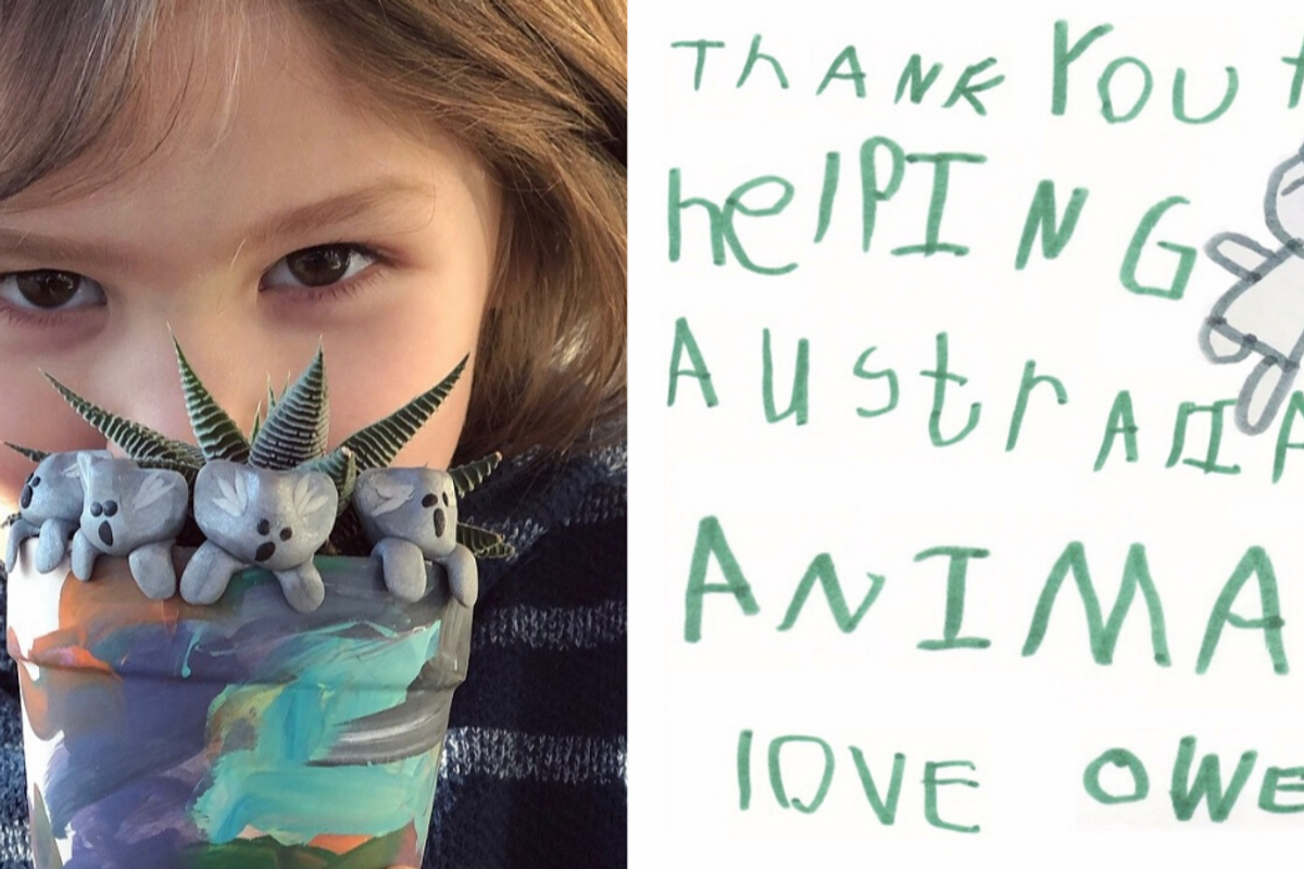 A 6-year-old has raised more than $260,000 for Australian wildlife selling his handmade clay koalas