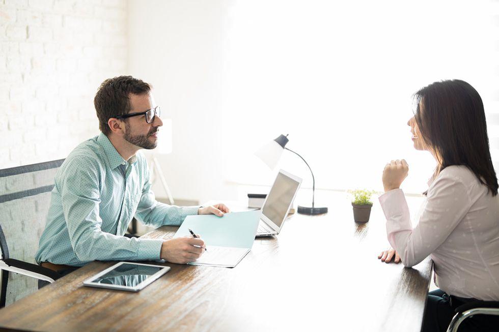 Interviewer asks an engineer job interview questions