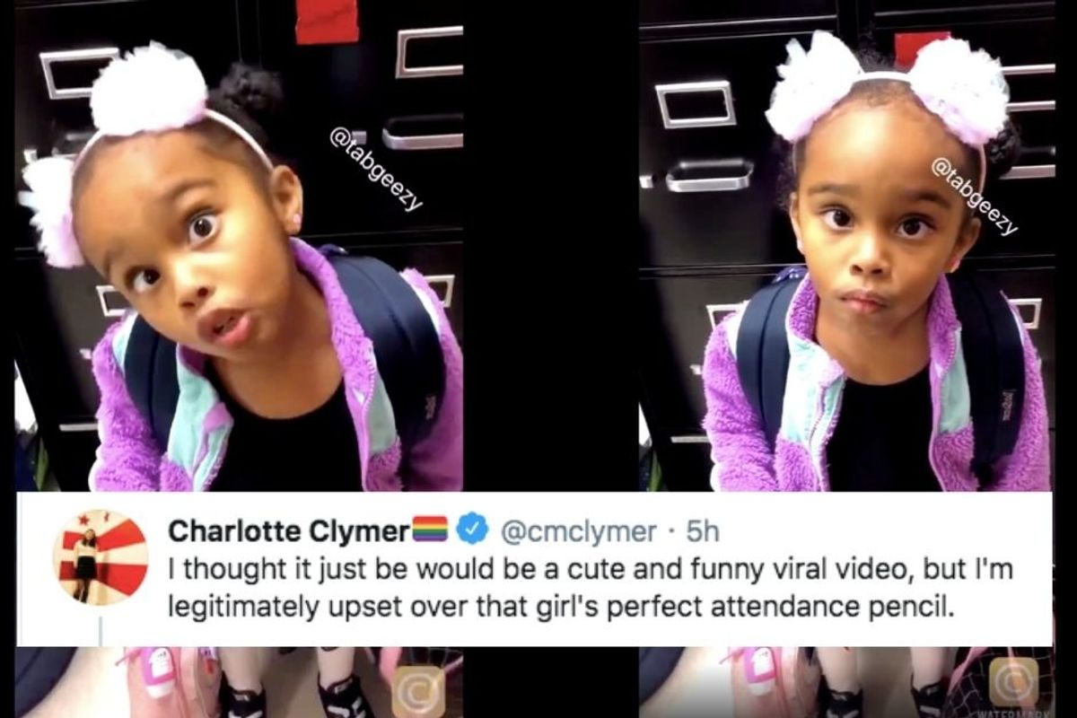 People are ready to throw down for an adorable little girl who just wants her pencil back
