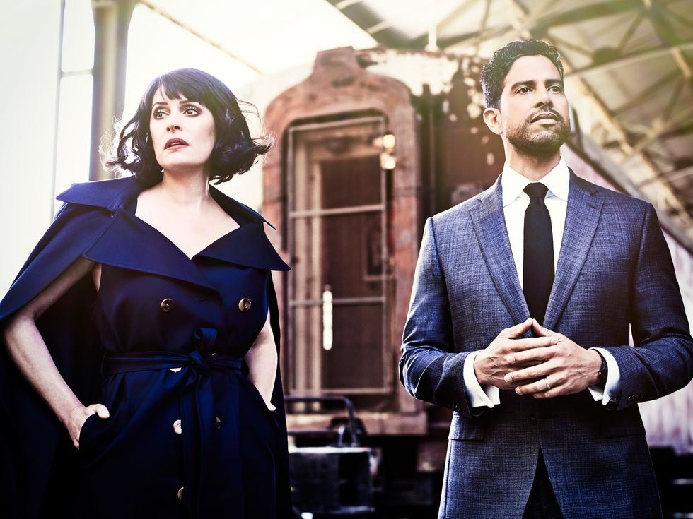 Paget Brewster and Adam Rodriguez of Criminal Minds.