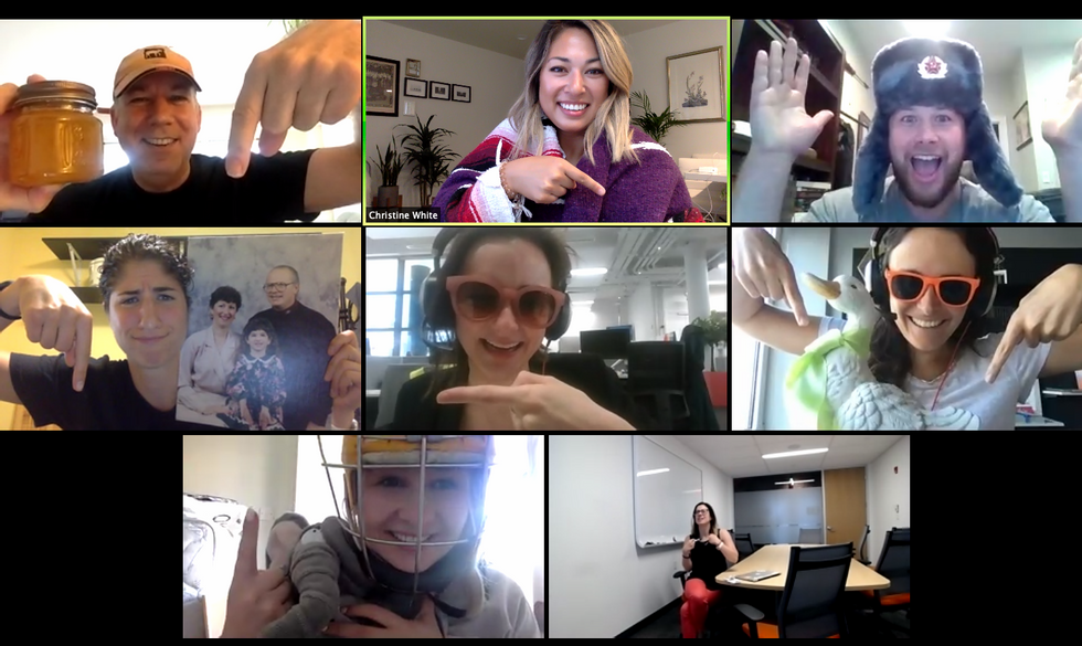 HubSpot has a large remote workforce that communicates via video conference.