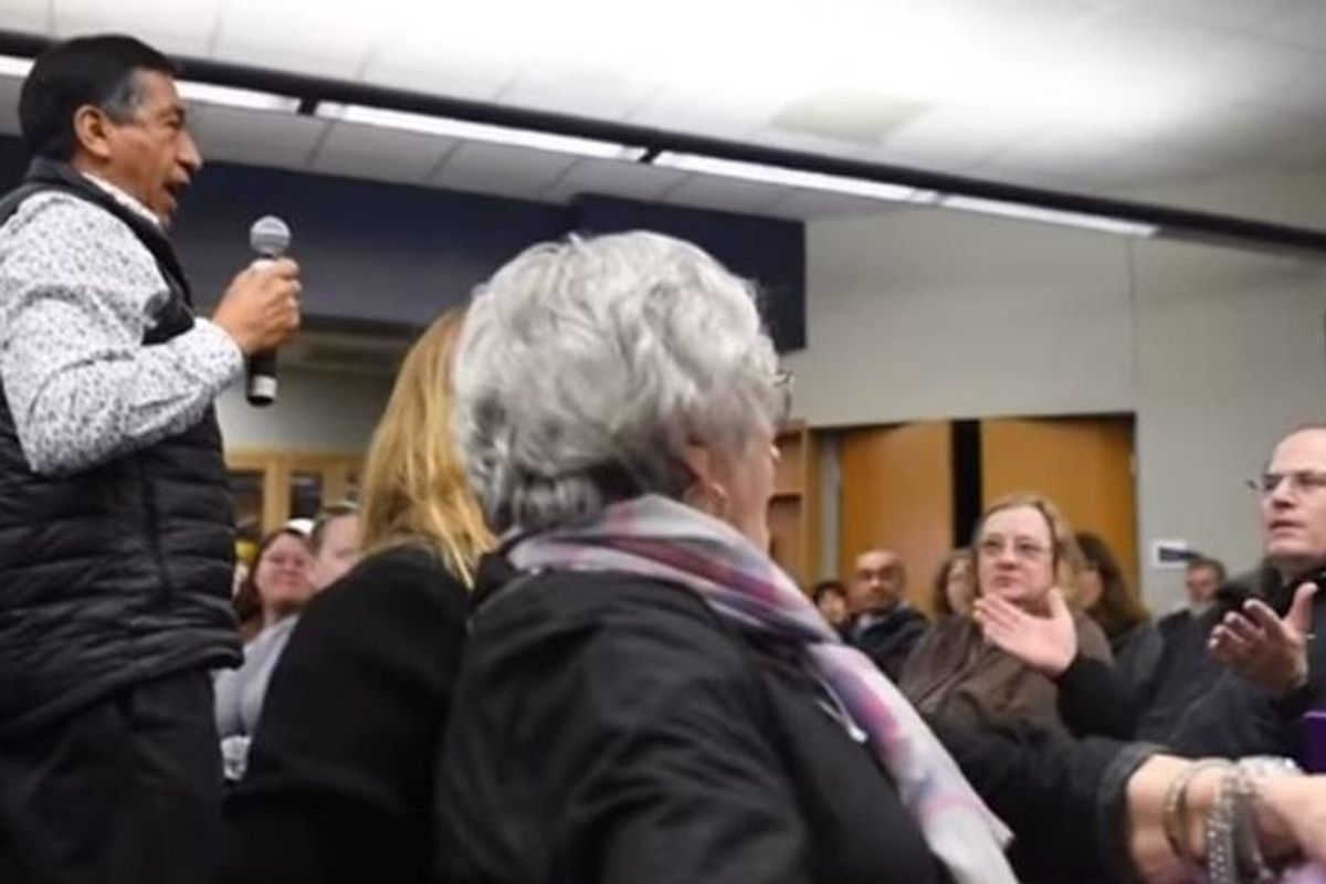People at a school diversity meeting had the perfect response to a clueless racist heckler