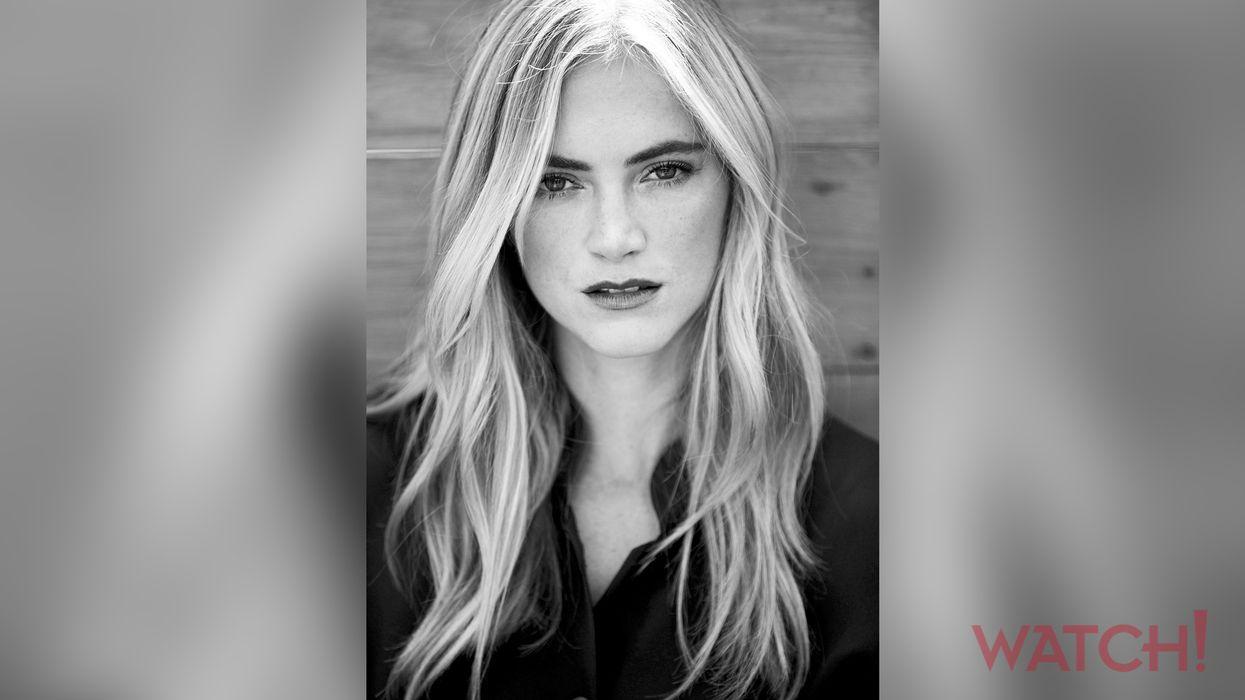 Black and white image of Emily Wickersham.