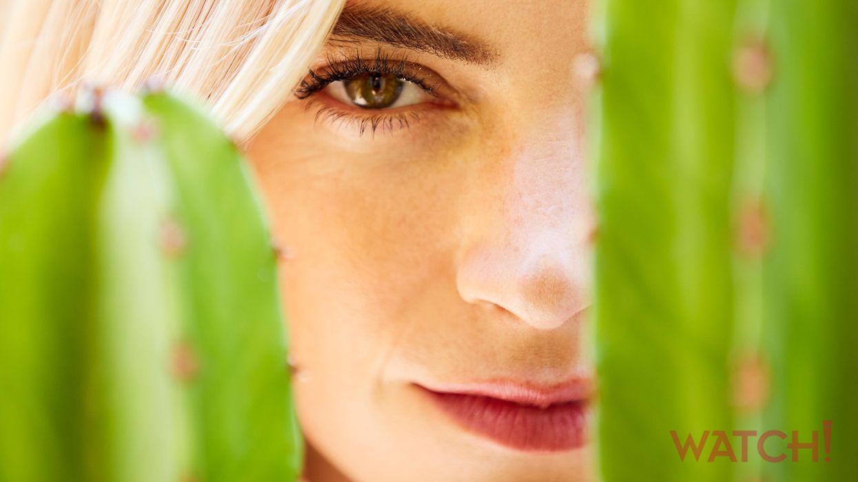 Close-up portrait of Emily Wickersham.