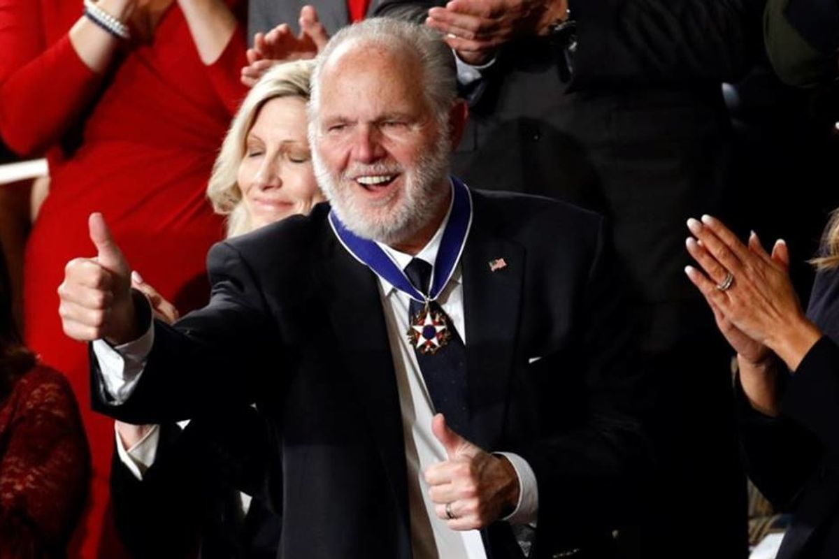 There's a big problem with Rush Limbaugh receiving the Presidential Medal of Freedom
