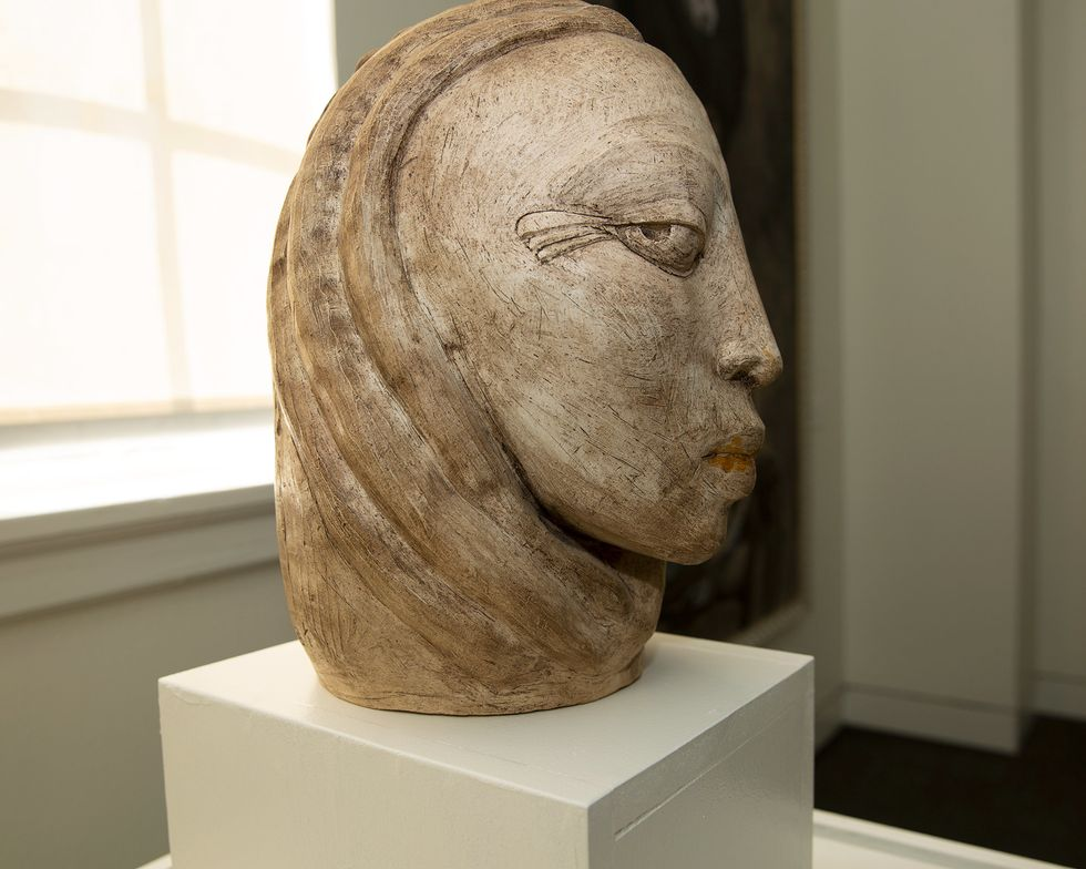 Sculpture by late Jamaican artist Gene Pearson.