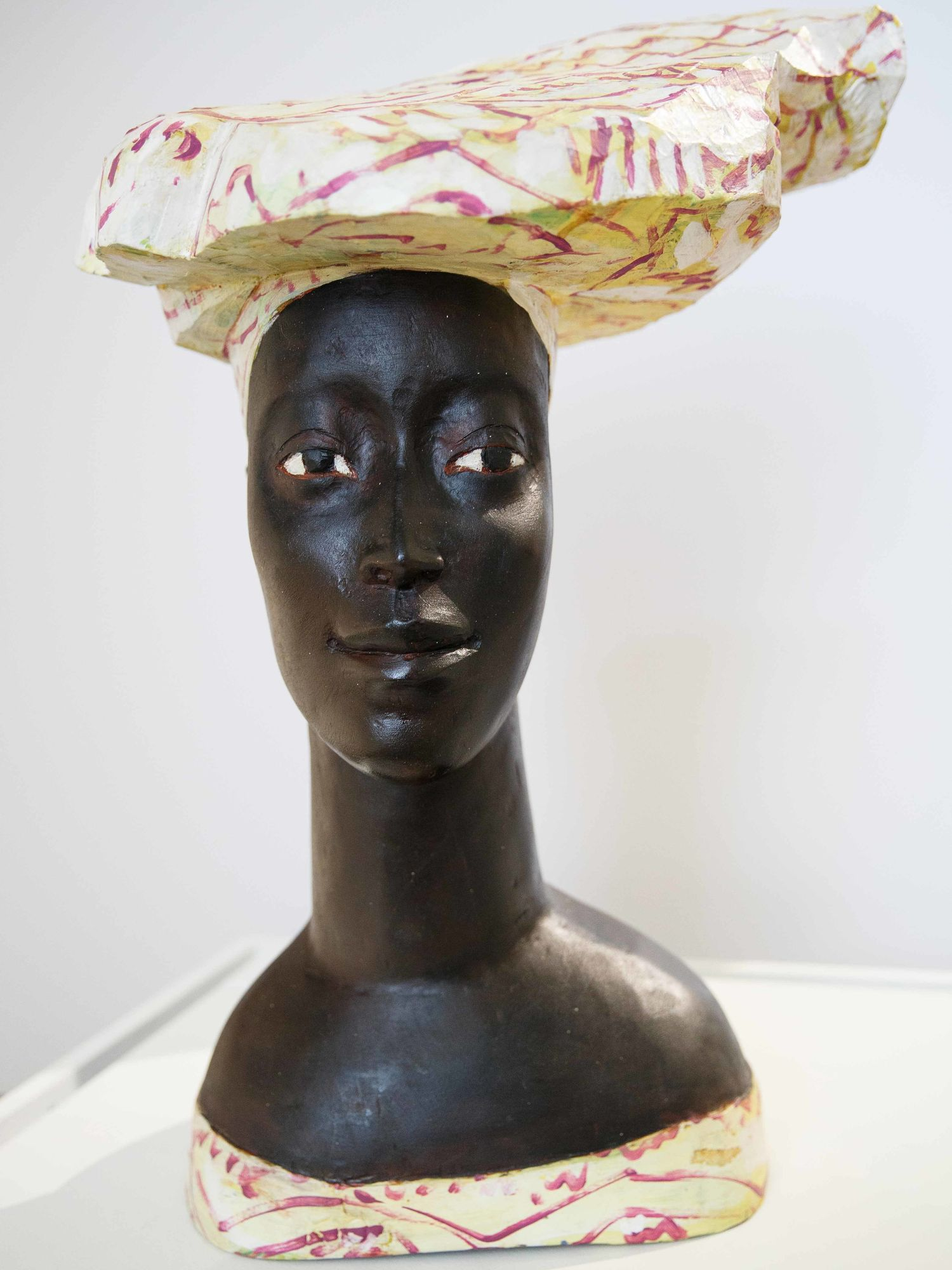 Sculpture of African woman by late German artist Luise Kimme.