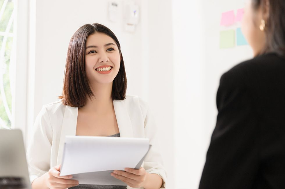 Hiring manager asks a job candidate about their past job performance