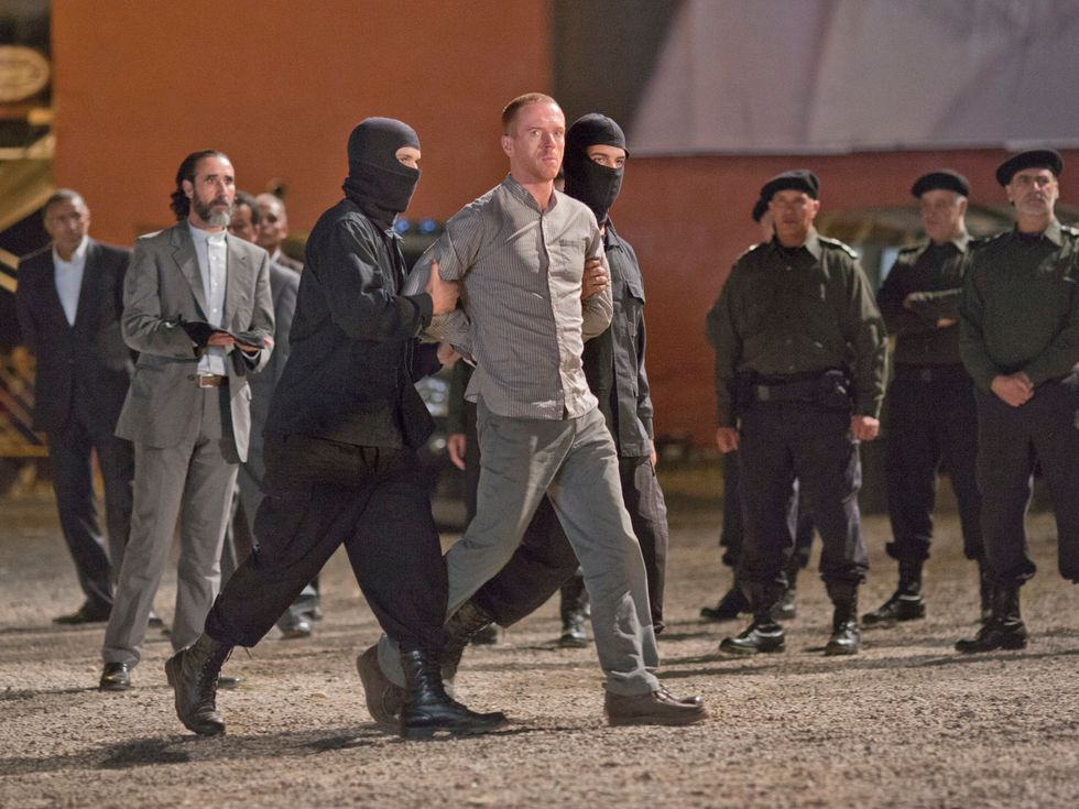 Damian Lewis being led to his death in Iran on TV show Homeland.