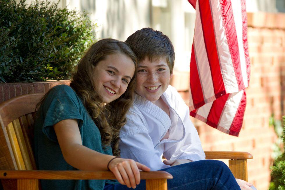 Morgan Saylor and Jackson Pace of TV series Homeland.