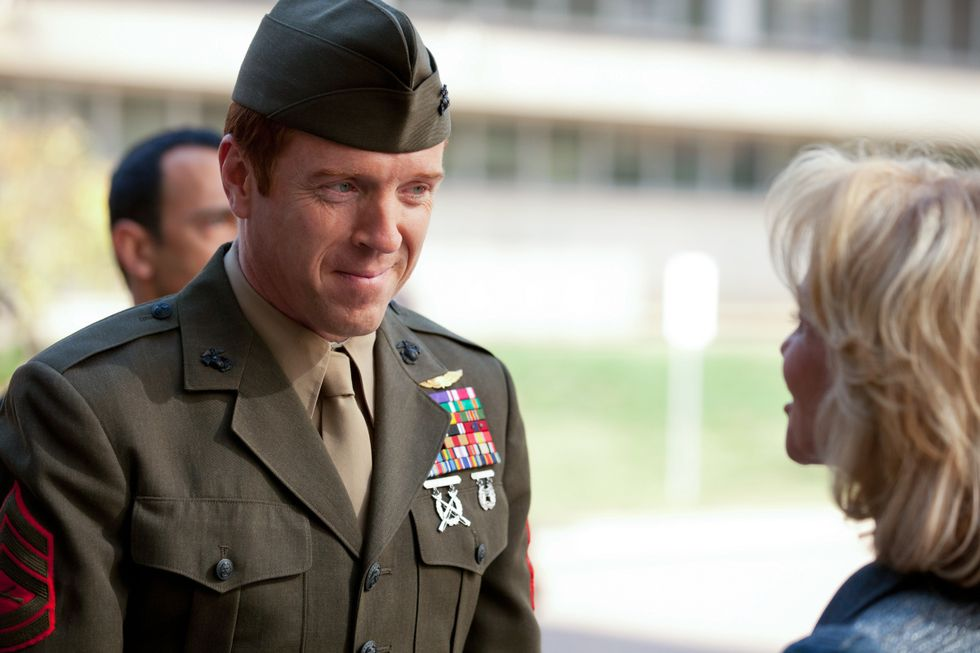 Damian Lewis in military uniform.