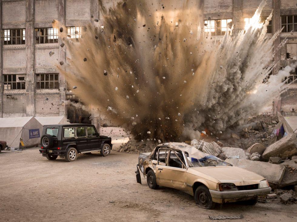 Stunt bombing for TV show Homeland.
