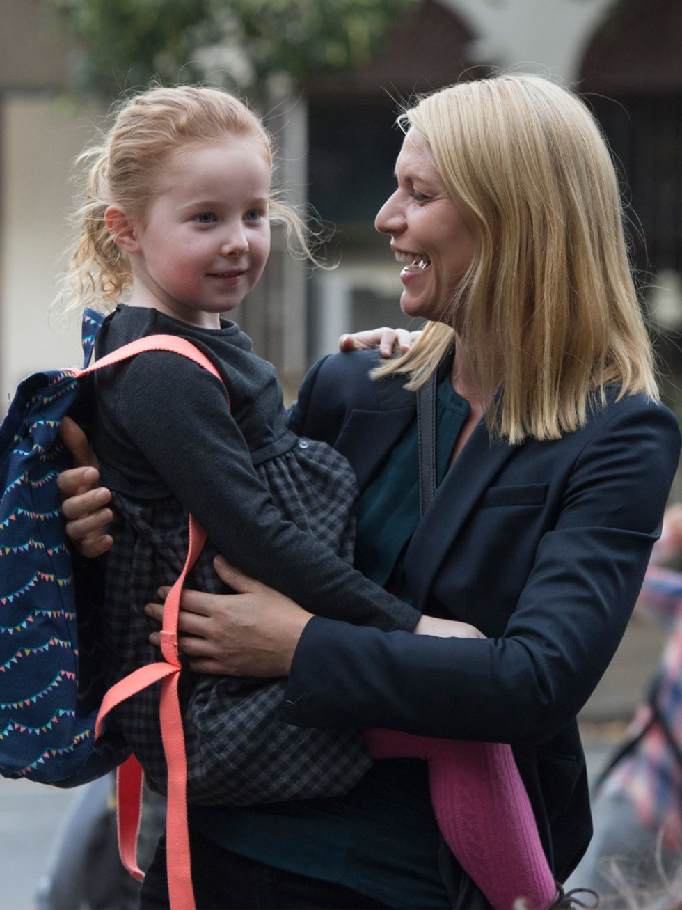 Claire Danes and child actor from TV show Homeland.